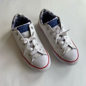 Converse Girls White Sneakers
